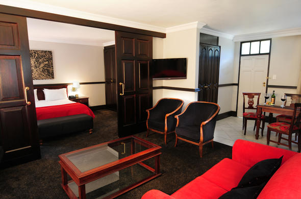 Comfortable one bedroom suite at Court Classique Suite Hotel.