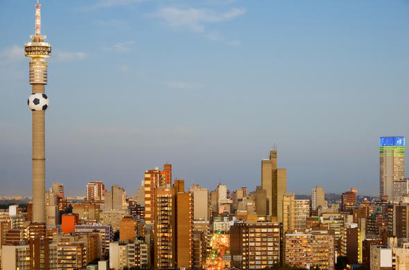 Johannesburg city in Gauteng, South Africa.