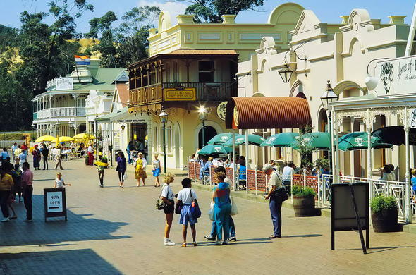 The streets of Gold Reef City.