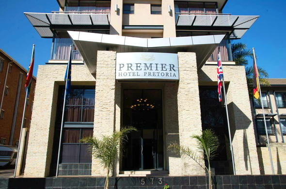 Entrance at Premier Hotel Pretoria.
