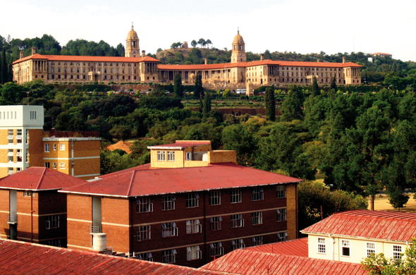 View of the Union buildings in Pretoria.